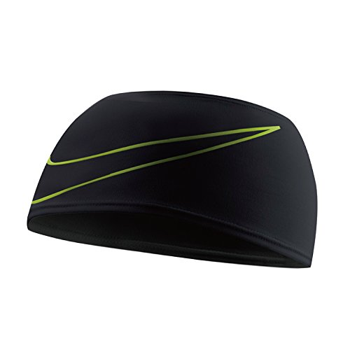 Nike Dri-Fit Swoosh Running Headband black/volt
