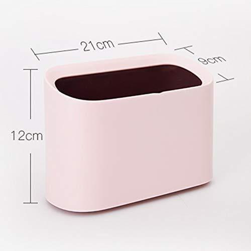 Prullenbak desktop mini papiermand zonder afdekking vierkant anti-drukbestendig tegen vallende hoeken gepolijst glad gebruik beschadigt de hand niet nette tafel salontafel thuis wonen groen