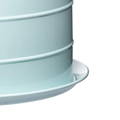 Kitchen Craft Living Nostalgia Airtight Cake Storage Tin/Cake Dome, 28.5 x 18 cm - Vintage Blue