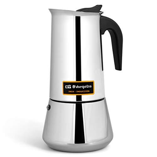 Cafetera italiana inox ORBEGOZO KFI960 | ORBEGOZO 9 tazas Induccion Vitro Gas Electrico