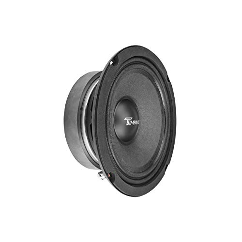 TIMPANO TPT-MD6 6.5 Inch Midrange Speaker for Pro Car Audio, 8 Ohms, 150 Watts RMS Power, 300 Watts Continuous Power, 1.5 in Voice Coil, 95db Mid Range Loudspeaker (Single)