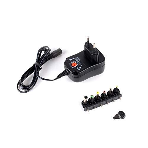 Ballylelly 3-12V Alimentatore regolabile con porta USB Caricabatterie multifunzione Adattatore di alimentazione interruttore regolatore di tensione portatile 12W