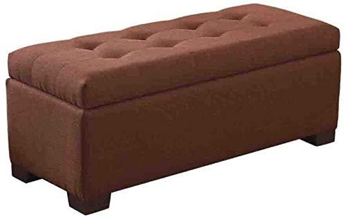 Banco plegable, algodón lino de la tela tapizada almacenaje del asiento cama casa Fin de heces 110 (Color : A03, Size : 100×40× 40cm)