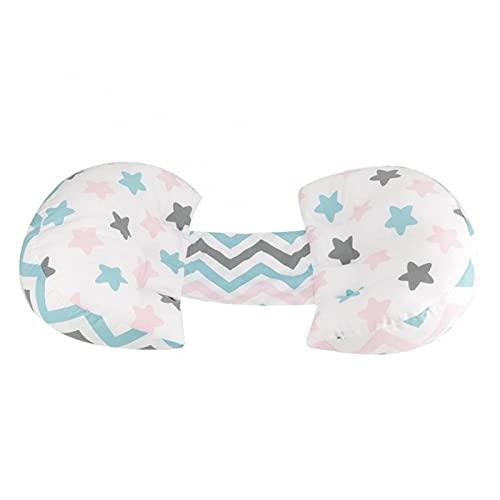 Almohada para El Cuerpo Almohada Lateral para El Embarazo Cintura Espalda Soporte para El Vientre Cojín Multifuncional con Forma Cojín Antivuelco para Dormir Lateral Blanco