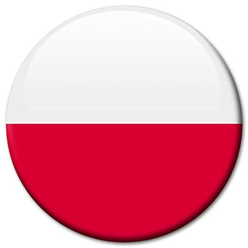 Kühlschrankmagnet Flagge Polen Magnet Länder Flaggen Reise Souvenir für Kühlschrank stark groß 50 mm