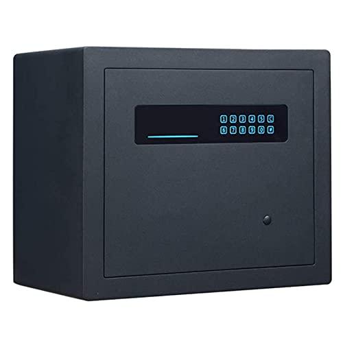 XiYou Caja de Seguridad Segura, gabinete Contraseña electrónica Todo Acero Antirrobo Documentos de Oficina en casa Joyas Objetos de Valor Pared pequeña empotrada