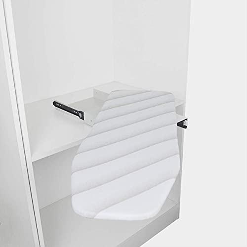 uyoyous Ausziehbares Bügelbrett Faltbares Bügelbrett Drehbar Klappbar Bügelbretter für Schublade Garderobe L950mm x B300mm x H90mm(B)