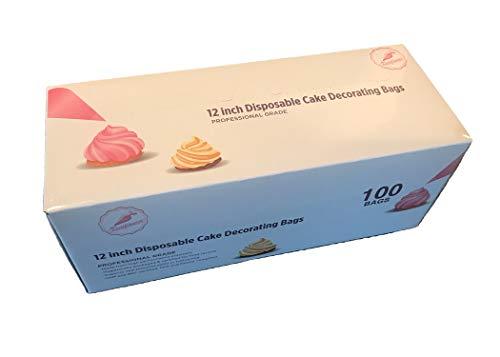 Keenpioneer 12inch Einweg-Spritzbeutel Backen und Kuchen Dekorieren 100 Stück 31x18cm