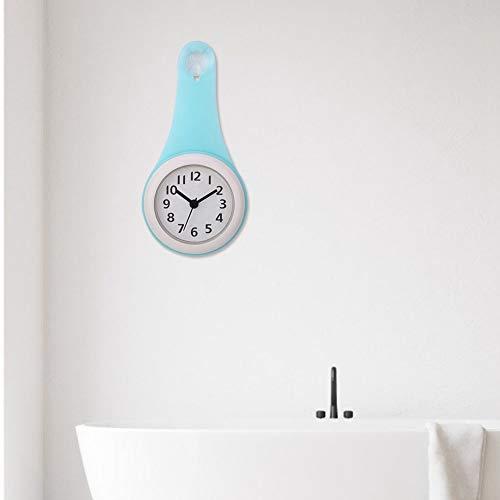 Wasserdichte Badezimmeruhr Digital, Badezimmeruhren Wanddekorative Langlebige und zuverlässige Badezimmeruhr, für Badezimmer, Küche, Schlafzimmer Home Decoration(blue)