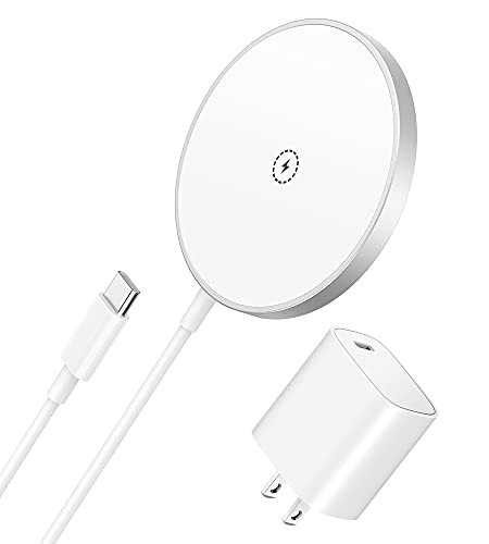 DimBoom Magnetic Wireless Charger for iPhone 13/12 - Fast Wireless Charging Pad Magnetic Charger with USB-C 20W PD Adapter Compatible with iPhone 13/13 Pro/13 Pro Max/13 mini/12 Pro/12 Pro max/12 Mini