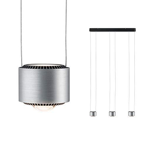 Paulmann 79720 LED Pendelleuchte Aldan incl. 3x5 / 3x4 Watt dimmbar Hängelampe Schwarz Alu Deckenlampe Warmweiß 2700 K
