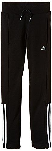 adidas Mädchen Hose Essentials Mid 3-Stripes Open Hem, Black/White, 170