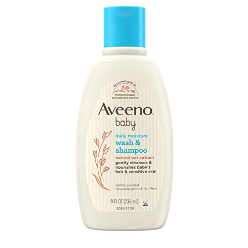 Aveeno Baby Wash & Shampoo, Lightly Scented, 8 Ounce (Pack of 2) by Aveeno Baby