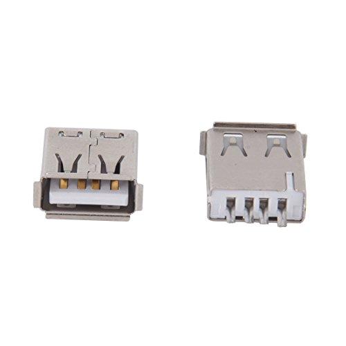 Sodial(R) USB-Anschluss, Typ A-Buchse, rechter Winkel, 10 Stück