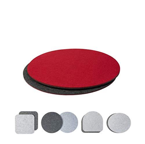 Luxdag - Set di 2 cuscini per sedie, panche e sgabelli, in feltro, colore: bicolore