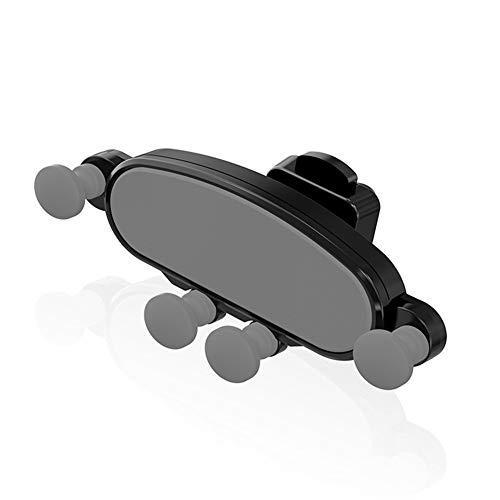 APXZC navigatiesysteem houder voor mobiele telefoon, draagbaar, grijs zwart, zwaartekrachtsensor, automatisch, antislip, schokbestendig, voor verschillende voertuigtypen