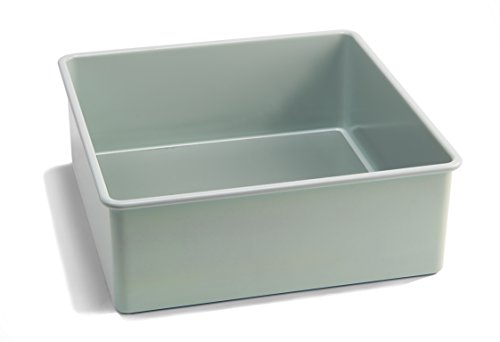 Square Cake Tin, 8 Inches, Nonstick with removable bottom