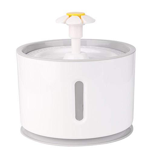 Fuente para gatos de Dravem, 2,4 L, fuente para beber para mascotas con LED, dispensador de agua automático para mascotas para gatos y perros