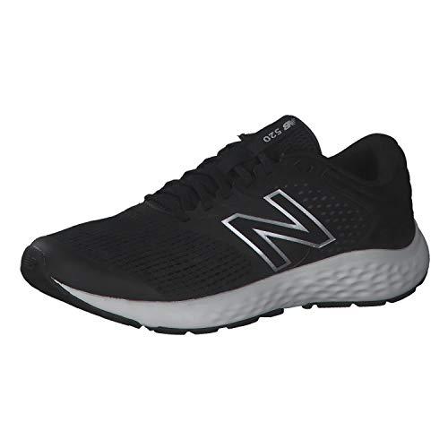 New Balance 520v7, Zapatillas para Correr Hombre, Black/White, 44.5 EU