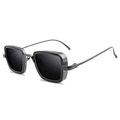 Gafas de Sol Sunglasses Nuevas Gafas De Sol Steampunk De Metal Vintage para Hombres Y Mujeres, Gafas De Sol Cuadradas para Hombres Y Mujeres, Elegantes Tonalidades Retro Anti-UV