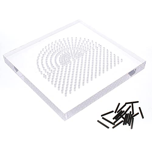 The Beadsmith, Wire Elements, Wig Jig Centaur Lite, 4 inch Acrylic Square jig, 441 Holes, 10 Removable Metal pegs, Tool for Making Wire Components and Jewelry Designs