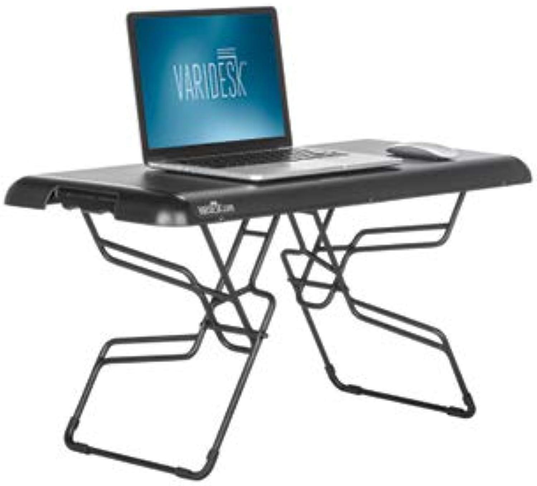 VARIDESK Hhenverstellbarer Schreibtisch - Soho - schwarz stehend