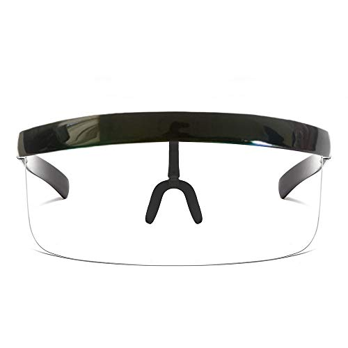 FanLe Gesichtsschutz Visier Übergroßer Gesichtsschutz, seitliche und vordere Gesichtsabdeckung, ideal für Langzeitkleidung Wiederverwendbare UV-Schutzbrillen 20 * 300 cm