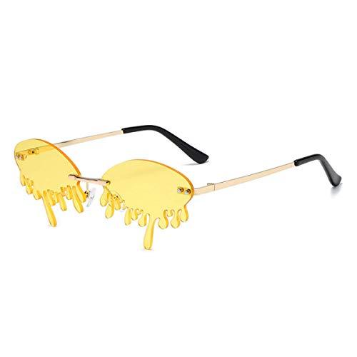 Gafas De Sol Sin Montura, Personalidad Exquisita, Lágrimas Irregulares, Gafas De Sol Uv400 Anti-Ultravioleta Y Anti-Reflejos (6 Colores) Unisex