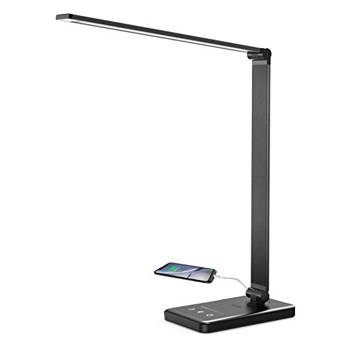 Lámpara Escritorio LED Lacmisc, Flexo de Escritorio, Lámparas de Mesa USB Regulable (5...