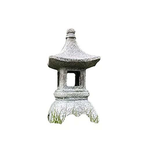 LED al Aire Libre Pagoda japonés Linterna, ajardinar imitación Piedra Linterna decoración jardín jardín Patio Chino Zen decoración luz Solar Faro
