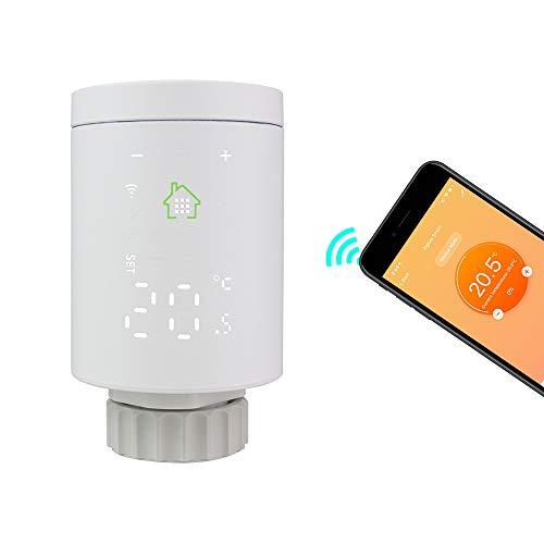 KETOTEK Smart Zigbee Heizkörperthermostat WLAN Alexa Google Home Kompatibel Heizkörper Thermostatkopf, Heizkörper Thermostatventile Tuya IFTTT Smart Life APP (Enthält kein Gateway)