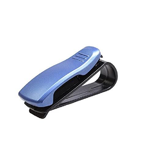 xinying Funda de gafas Accesorios para el coche Visera de sol Gafas de sol Gafas de sol Gafas de tarjeta pluma ABS portátil Clip titular de boleto soporte gafas gafas (Nombre del color: B azul)