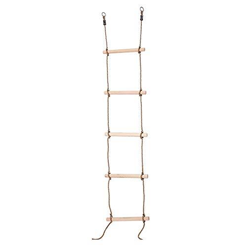 Katigan 5 Pasos Cuerda de Escalada GimnáStica Escalera Juego Divertido Juguetes para Patio Trasero Patio JardíN NiiOs Juego
