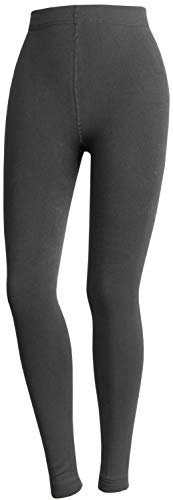 THERMO LEGGINGS EXTRA WARM MIT INNENFLEECE STRUMPFHOSE GR. S M L XL (S / 36-38, ANTHRAZIT)