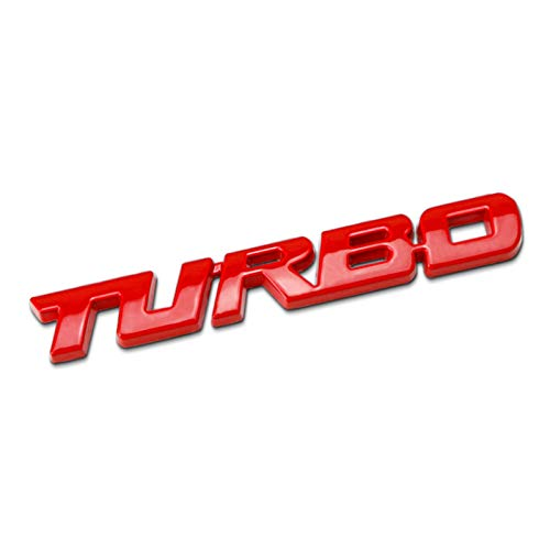 None/Brand Turbo Car Stemmi Emblemi Sticker per C-Hevrolet Malibu Cruz - Chrome,Rosso