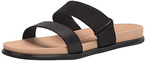 Sperry Women's Waveside Plushwave Slide Sandal, Black, 5.5