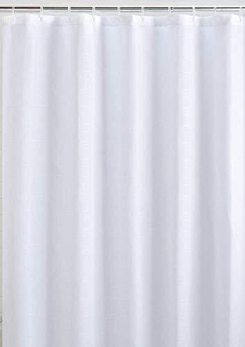 Mildew Resistant Fabric Shower Curtain Waterproof/Water-Repellent & Antibacterial, 72x72 - White
