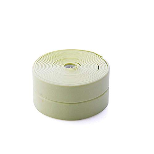 1 Unidad de 2,6 M / 3 M, Cinta Impermeable para Moho de Cocina, Cinta Adhesiva de Sellado, Pegatinas para el hogar, Cinta Verde de 300 por 3,8 cm para Artes y Manualidades