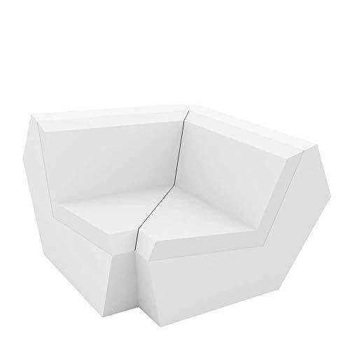 Vondom Faz canapé module angle à 90° blanc