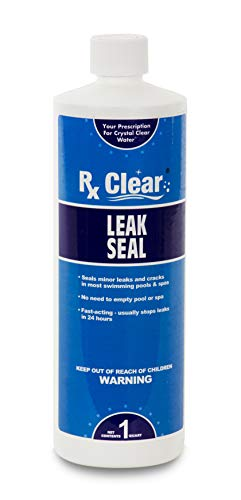 Rx Clear Leak Seal | Fast Acting Repair Kit for Spas and In-Ground Swimming Pools | Formula Stops Leaks Within 24 Hours | 1 Quart Bottles | Single Pack