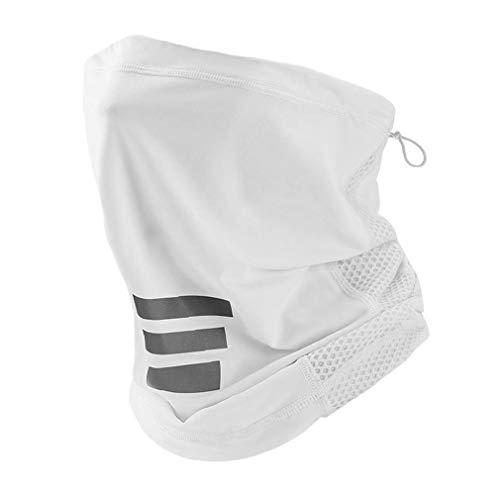 Bragas De Cuello Cubierta De La Cara Exterior De La Bufanda del Pañuelo Transpirable Polvo Sun-protección Headwear De La Bufanda De Pesca Al Aire Libre Running White