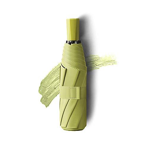Roshow Einfache einfache dreifache Schwarze Kleber Sonnencreme, Regenschirm, benutzerdefinierte Druck, Logo, Werbung, Regenschirm, Geschäftsschirme-Matcha Green - Schwarzer...