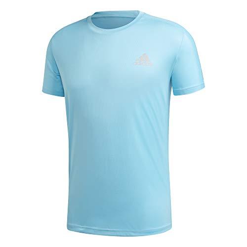 adidas Herren OWN The Run Tee T-Shirt, Signal Cyan/Reflective Silver, L