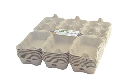 SUPA Eierboxen, 24 Stück | Traditionelle Blaue Faser Eierbox | 100% recycelbar und biologisch abbaubar