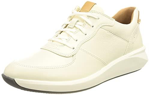 Clarks Un Rio Sprint, Sneaker Mujer, White Combi Lea, 41 EU