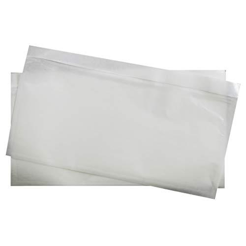 250 transparente DIN lang Lieferscheintaschen 239x131 mm selbstklebende Begleitpapiertaschen Dokumententaschen Rechnungstaschen für Lieferscheine Begleitpapiere Dokumente Rechnungen Garantiekarten