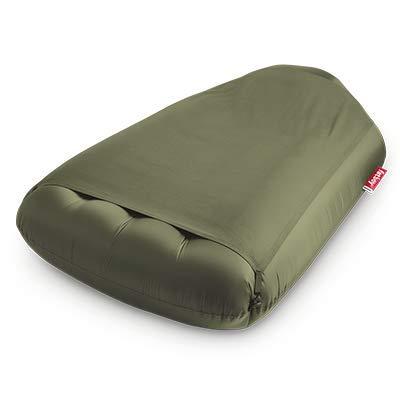 lamzac Fatboy L Deluxe Luftsofa Olive Green | Großes, aufblasbares Sofa/Liege/Bett, Sitzsack mit Luft gefüllt | Outdoor geeignet | 192 x 112 x 55 cm