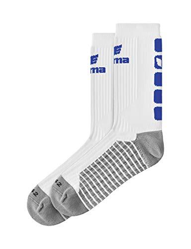 ERIMA Erwachsene Socken CLASSIC 5-C, weiß/new royal, 39-42, 2181914