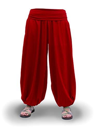Pantalones Bombachos Aladin Harem Yoga Comodos Anchos Holgados Unisex Lisos Negro Blanco Marino Gris Vino Tallas Adulto y Tallas Grandes 2XL (Vino, 3XL)
