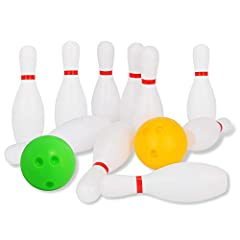 Premium Plastic: Liberry kids bowling ball set is made of high-quality plastic materials, and made for extended use. Our plastic bowling balls are durable and easy to clean, unlike the foam bowling sets which are easily torn apart, may break apart in...